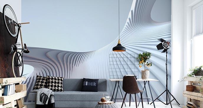 Fototapeta z nowoczesną architekturą
