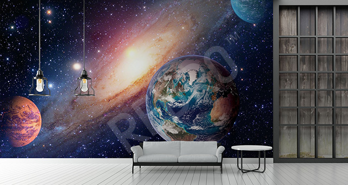 Fototapeta z planetami 3D