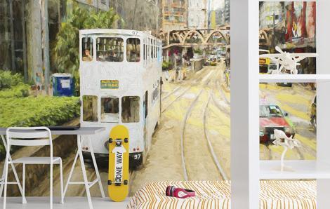 Fototapeta z tramwajem do pokoju nastolatka