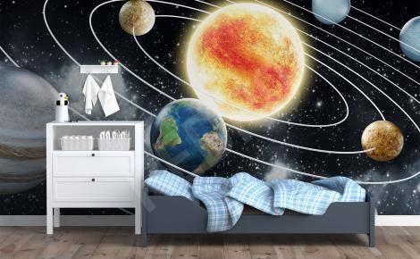 Fototapeta z Układem Słonecznym do sypialni