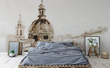 Fototapeta z widokiem na Rzym