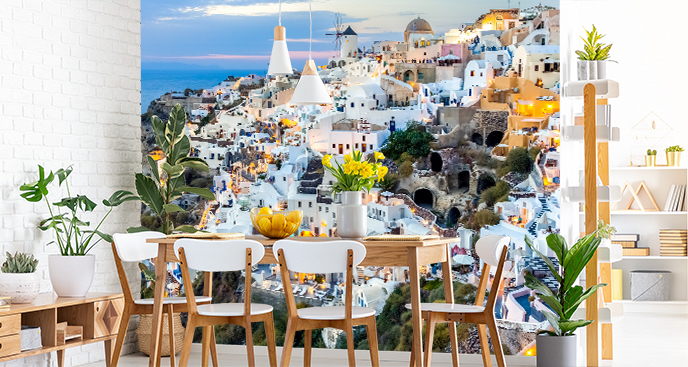 Fototapeta z widokiem na Santorini