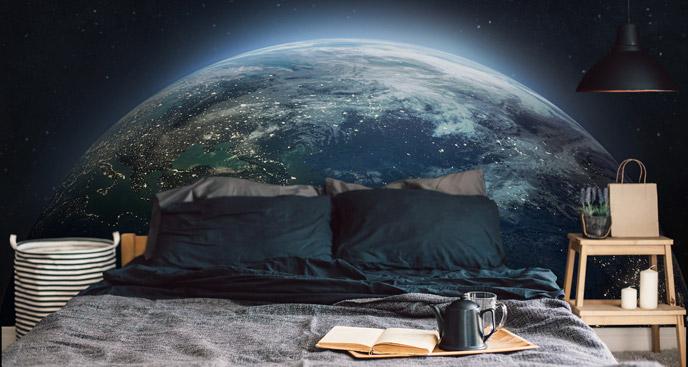 Fototapeta z widokiem na Ziemię