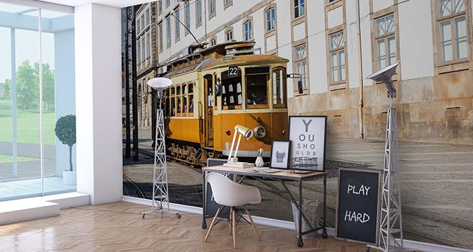 Fototapeta zabytkowy tramwaj