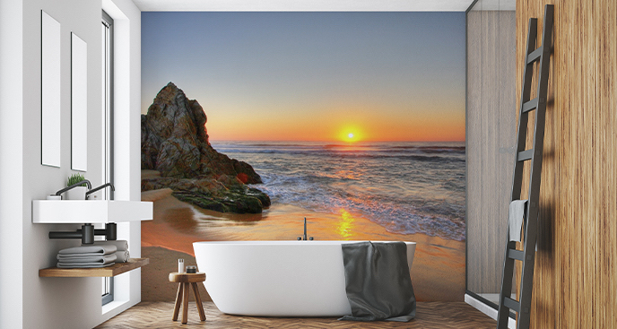 Fototapeta zachód słońca do łazienki