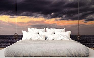Fototapeta zachód słońca do sypialni