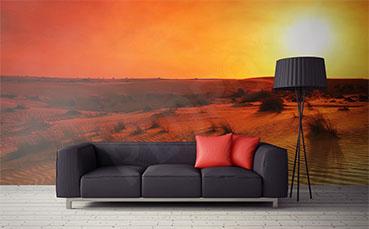 Fototapeta zachód słońca nad pustynią