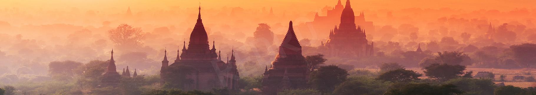 Fototapeta zachód słońca w Azji