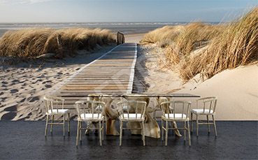 Fototapeta zejście na plażę