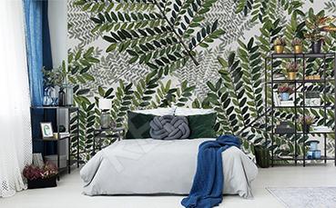 Fototapeta zielone gałęzie do sypialni