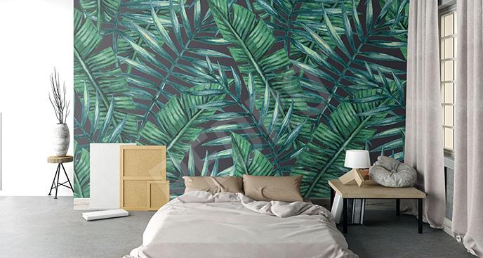 Fototapeta zielone liście palmy