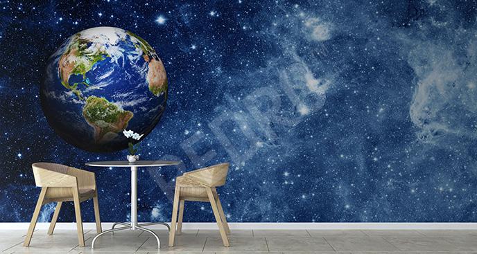Fototapeta Ziemia widziana z kosmosu
