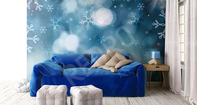 Fototapeta zima: śnieżynki