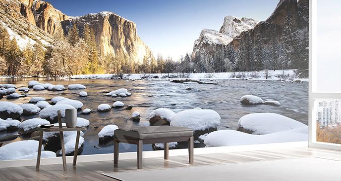 Fototapeta zima w parku