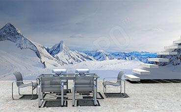 Fototapeta zimowa panorama