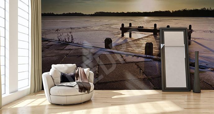 Fototapeta zimowe jezioro