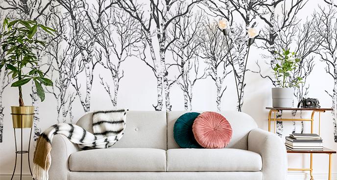 Fototapeta brzozy zimą