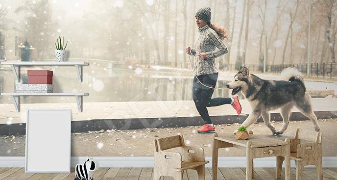Fototapeta zimowy trening