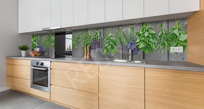 Fototapeta zioła w stylu rustykalnym
