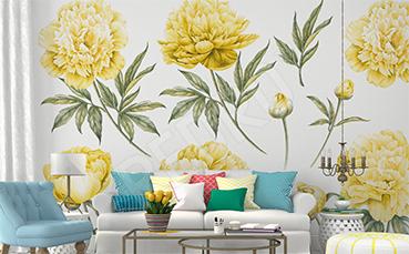 Fototapeta żółte kwiaty do salonu
