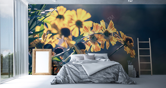 Fototapeta żółte kwiaty do sypialni