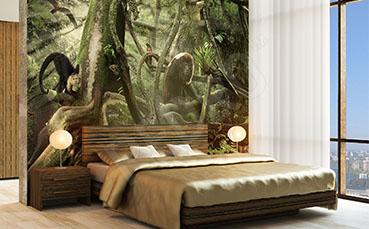 Fototapeta zwierzęta w lesie tropikalnym