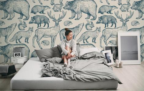Fototapeta zwierzęta w stylu skandynawskim