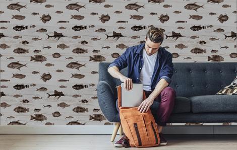Fototapety brązowe ryby