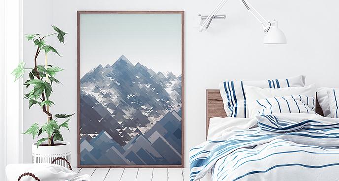 Geometryczny plakat góry