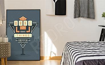 Graficzny plakat do sypialni