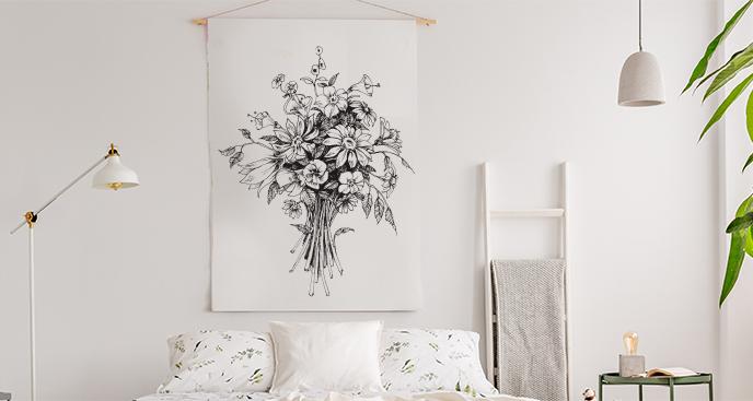 Plakat kwiaty do sypialni