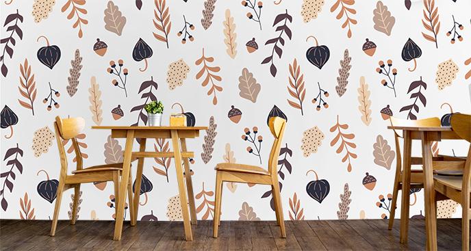 Jesienna fototapeta do kawiarni