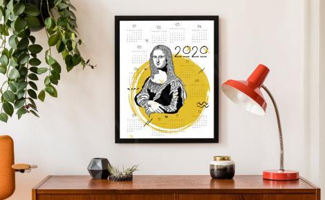 Kalendarz plakatowy Mona Lisa