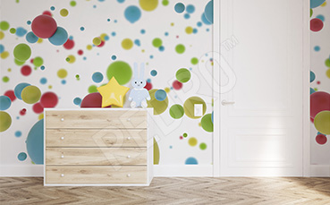 Kolorowa fototapeta dla dzieci 3d
