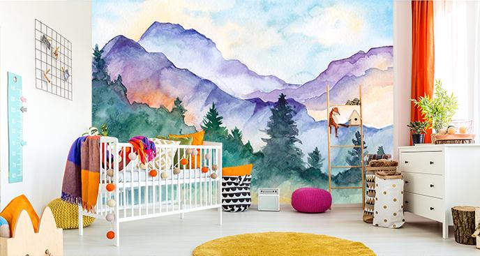 Kolorowa fototapeta do pokoju dziecka