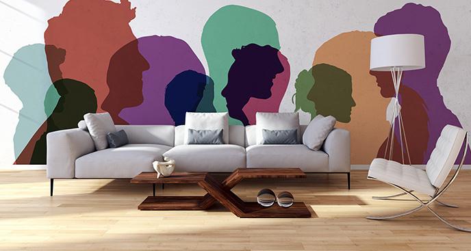Kolorowa fototapeta ludzie