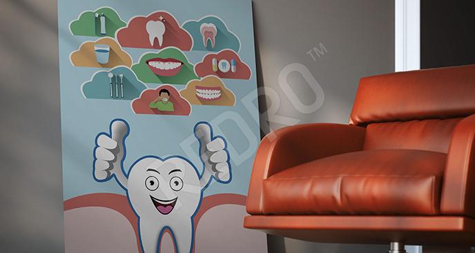 Kolorowy obraz do dentysty