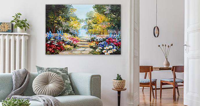 Kolorowy obraz park