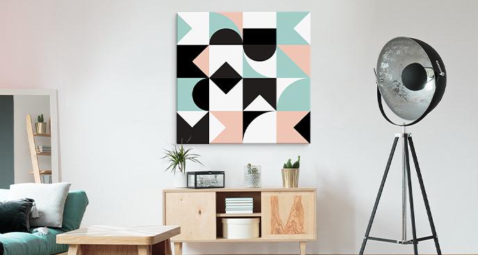Kolorowy obraz z geometrią
