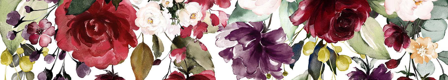 Kolorowy plakat kwiaty