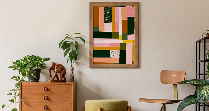 Kolorowy plakat mozaika