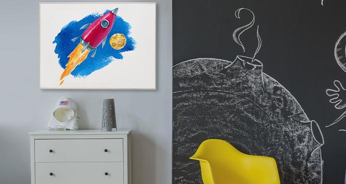 Kosmiczny plakat do pokoju dziecka