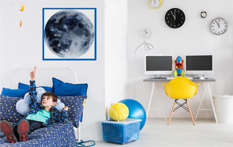Kosmiczny plakat z księżycem