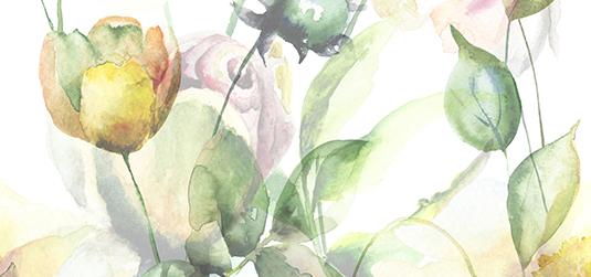 Kwiaty ręcznie malowane