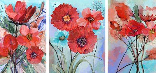 Kwiaty tryptyk