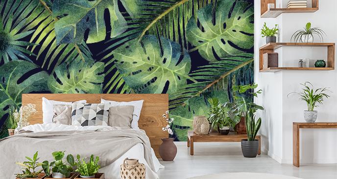 Liściasta fototapeta dżungla