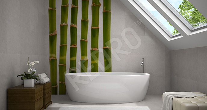 Minimalistyczna naklejka bambus