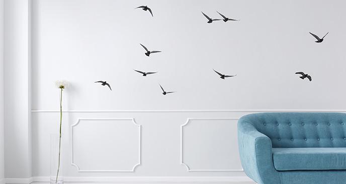 Minimalistyczna naklejka w ptaki