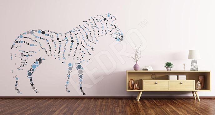 Minimalistyczna naklejka zebra