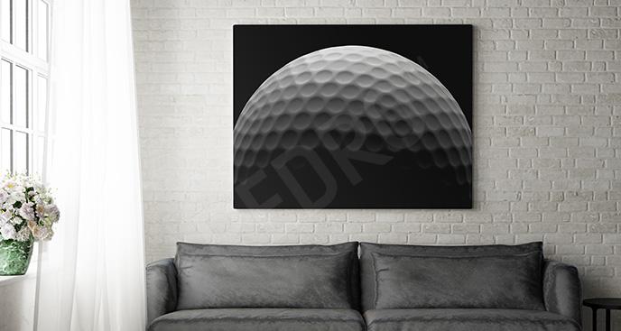 Minimalistyczny obraz z piłką